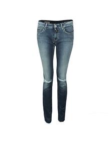 Replay Womens Blue Luz Skinny Stretch Jean