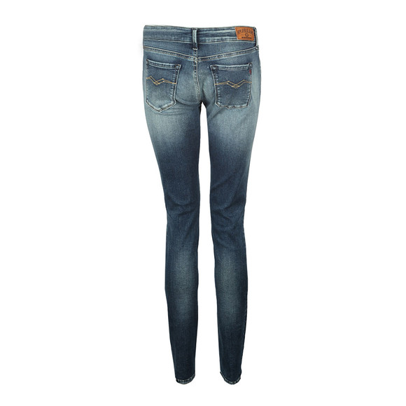 Replay Womens Blue Luz Skinny Stretch Jean