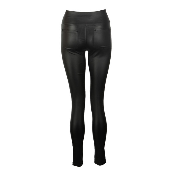 Holland Cooper Womens Black Skinny Leather Look Trouser