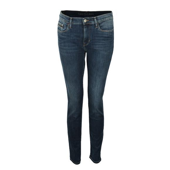 Calvin Klein Jeans Womens Blue Skinny High Rise Jean main image