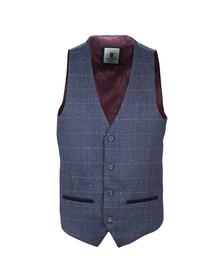 Marc Darcy Mens Blue Harry Waistcoat