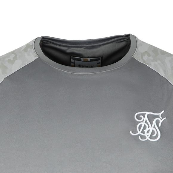 Sik Silk Mens Grey S/S Raglan Gym Tee main image