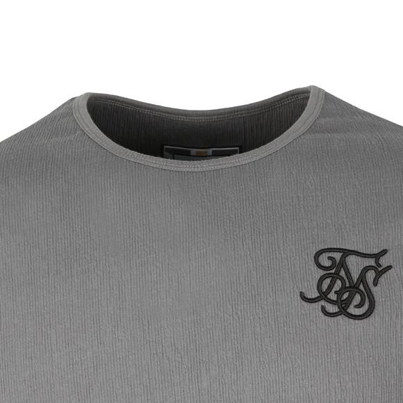 Sik Silk Mens Grey S/S Ripple Gym Tee main image