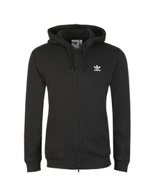 Adidas Originals Mens Black Trefoil Fleece Hoodie