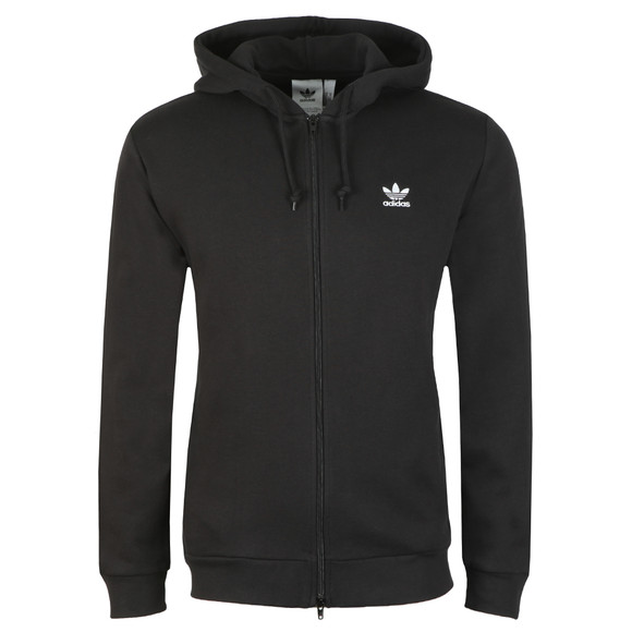 adidas Originals Mens Black Trefoil Fleece Hoodie main image