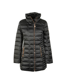EA7 Emporio Armani Womens Black Long Down Jacket
