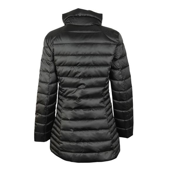 EA7 Emporio Armani Womens Black Long Down Jacket main image