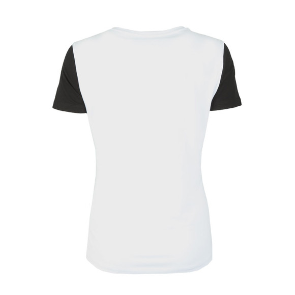 EA7 Emporio Armani Womens White Contrast Sleeve Tee main image