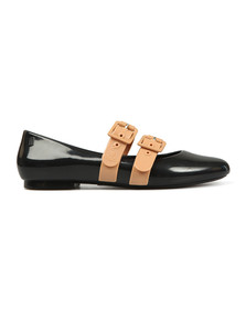 Vivienne Westwood Anglomania X Melissa Womens Black Doll Contrast Shoe