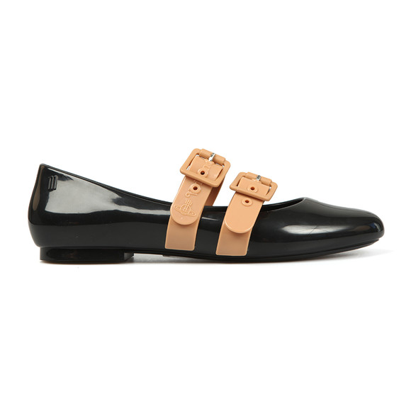Vivienne Westwood Anglomania X Melissa Womens Black Doll Contrast Shoe main image