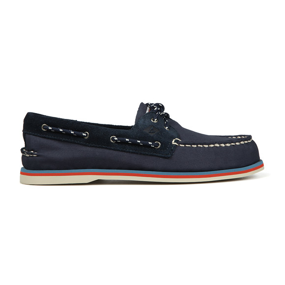Sperry Mens Blue Authentic Original 2 Eye Canvas Boat Shoe main image