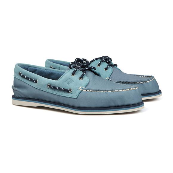 Sperry Mens Blue Authentic Original 2 Eye Canvas Boat Shoe main image