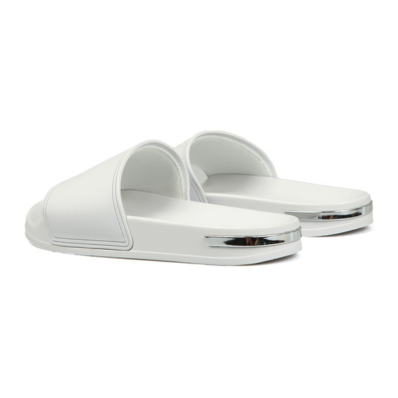 Mallet. Mens White Slides main image
