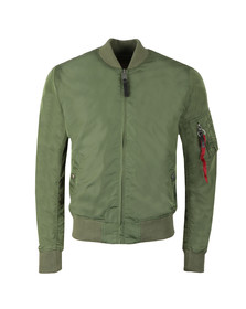 Alpha Industries Mens Green MA1  Bomber Jacket