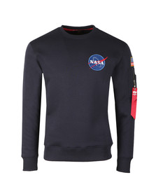 Alpha Industries Mens Blue Space Shuttle Sweat