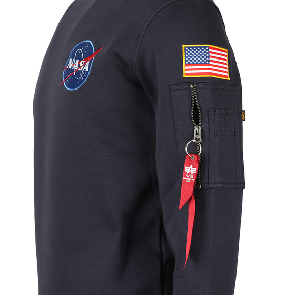 Alpha Industries Mens Blue Space Shuttle Sweat main image