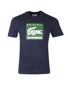 Lacoste Mens Blue TH7461 Print Tee