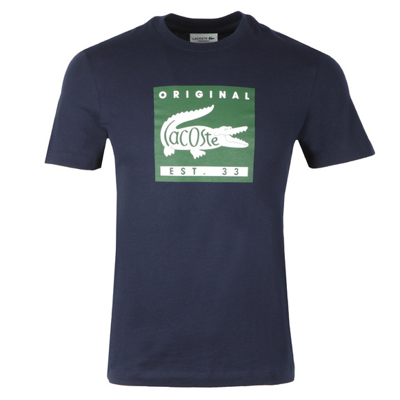 Lacoste Mens Blue TH7461 Print Tee main image
