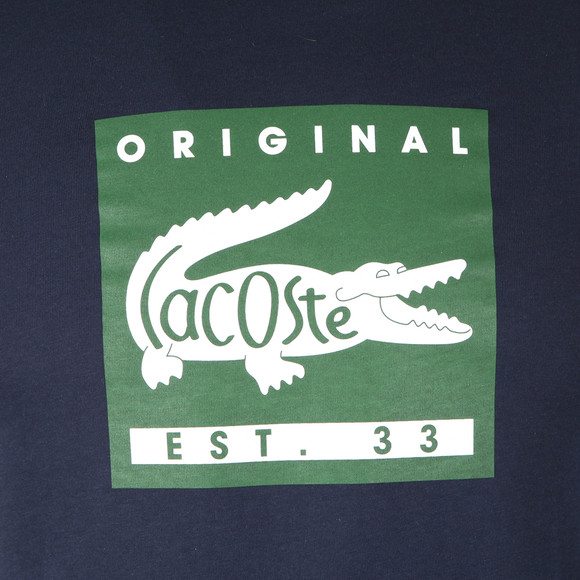Lacoste Mens Blue TH7461 Print T-Shirt main image