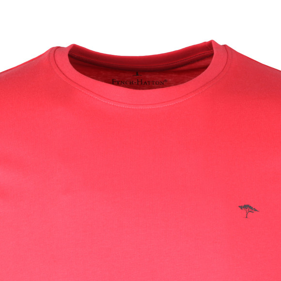 Fynch Hatton Mens Pink Crew Neck T-Shirt main image