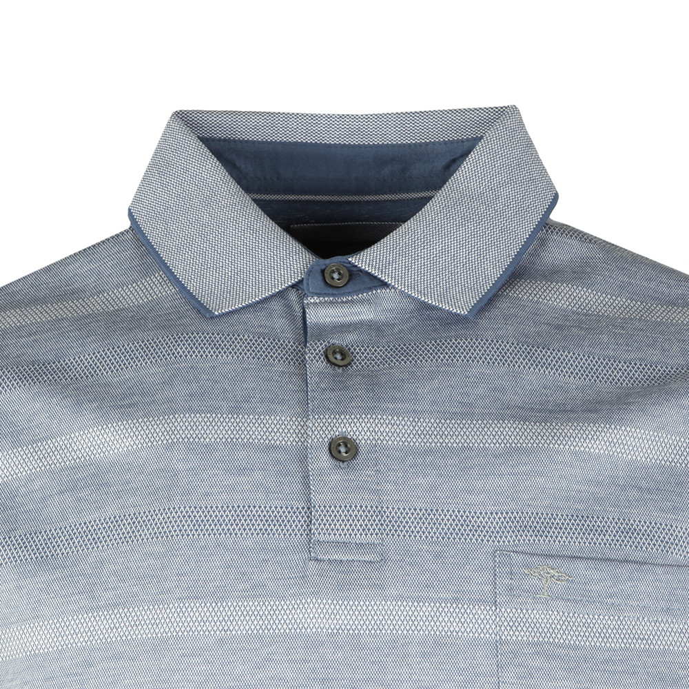 S/S 2 Tone Stripe Polo main image
