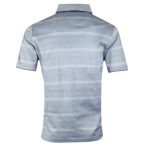 Fynch Hatton Mens Blue S/S 2 Tone Stripe Polo main image