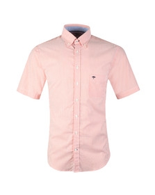 Fynch Hatton Mens Orange S/S Doubleface Shirt