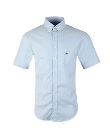 Fynch Hatton Mens Blue S/S Doubleface Shirt