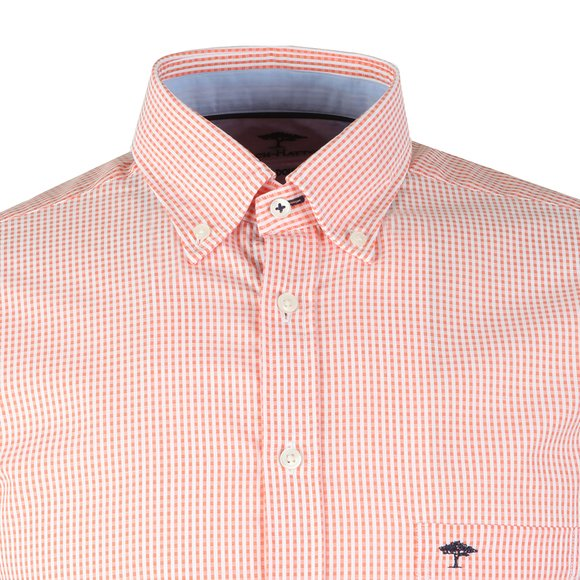 Fynch Hatton Mens Orange S/S Doubleface Shirt main image