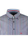Fynch Hatton Mens Blue Maritime SS Stripe Shirt