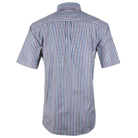 Fynch Hatton Mens Blue Maritime SS Stripe Shirt main image