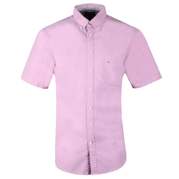 Fynch Hatton Mens Red S/S Colourful Summer Shirt main image