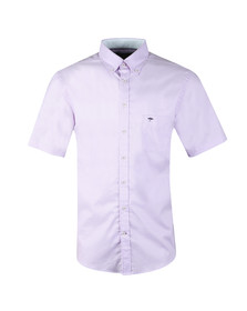 Fynch Hatton Mens Purple S/S Summer Structure Shirt