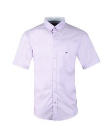 Fynch Hatton Mens Purple S/S Summer Structure Shirt