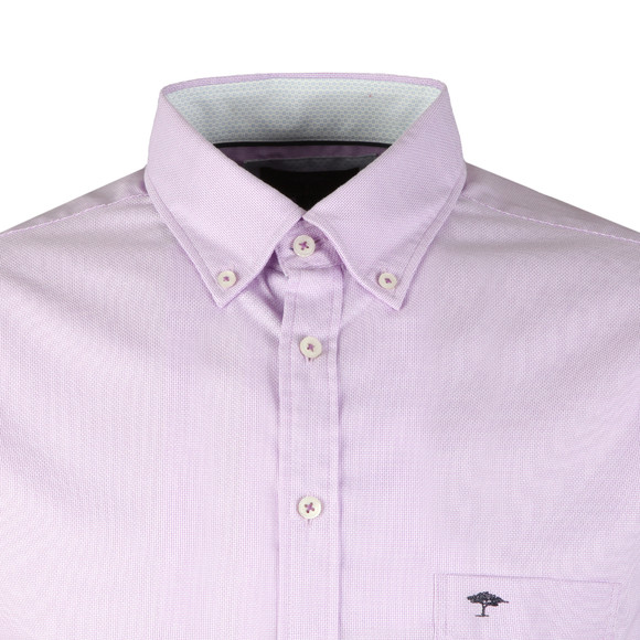 Fynch Hatton Mens Red S/S Summer Structure Shirt main image
