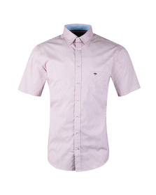 Fynch Hatton Mens Purple S/S Print Shirt
