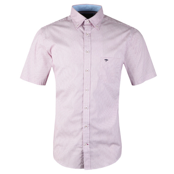 Fynch Hatton Mens Purple S/S Print Shirt main image