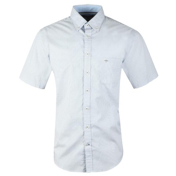 Fynch Hatton Mens Blue S/S Print Shirt main image