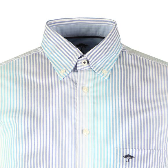 Fynch Hatton Mens Blue S/S Stripe Shirt main image