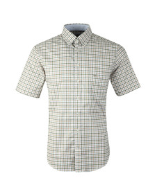 Fynch Hatton Mens Green S/S Structured 2 Tone Shirt