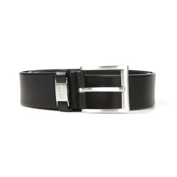 HUGO Mens Black Connio Leather Belt