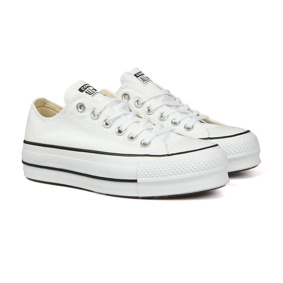 Converse Womens White All Star Low Platform Ox main image