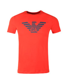 Emporio Armani Mens Red Large Eagle Logo T Shirt