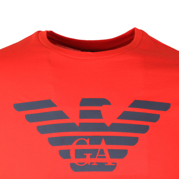 Emporio Armani Mens Red Large Eagle Logo T Shirt main image