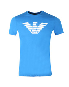 Emporio Armani Mens Blue Large Eagle Logo T Shirt