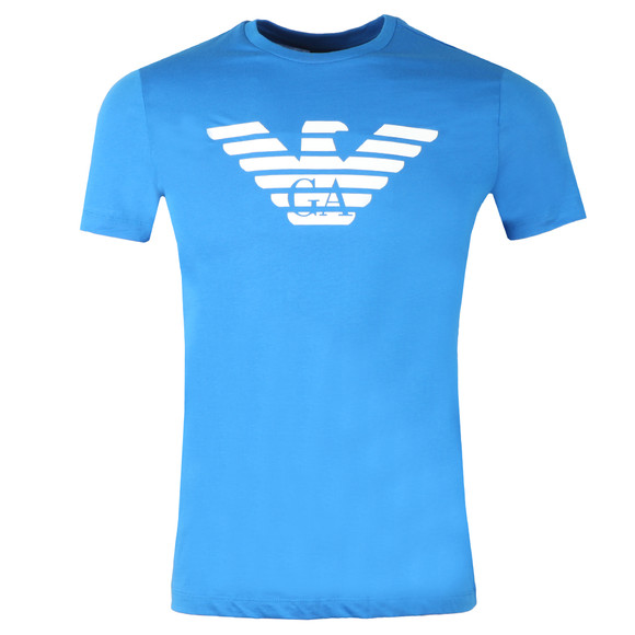 Emporio Armani Mens Blue Large Eagle Logo T Shirt main image