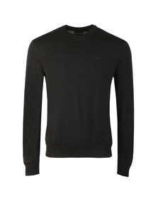Emporio Armani Mens Black Knitted V Neck Jumper