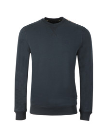 Aquascutum Mens Blue Oliver Crew Neck Sweater