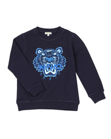 Kenzo Kids Boys Blue Boys Embroidered Tiger Sweatshirt
