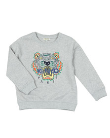 Kenzo Kids Boys Grey Boys Embroidered Tiger Sweatshirt